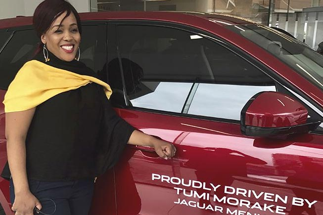 Tumi Morake is Jaguar's new brand ambassador
